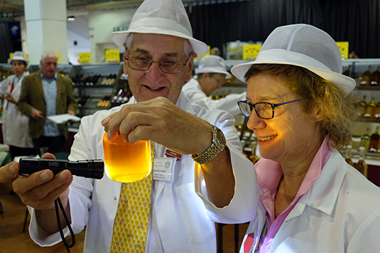 Honey Judging at the National Honey Show